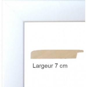 encadrement bois satin blanc avec verre et dos prix discount sur cadre. Black Bedroom Furniture Sets. Home Design Ideas
