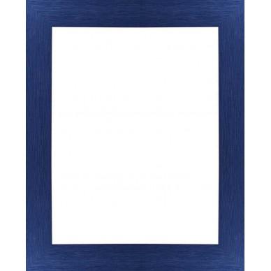 encadrement bois plat stri bleu avec verre et dos prix discount sur cadre. Black Bedroom Furniture Sets. Home Design Ideas