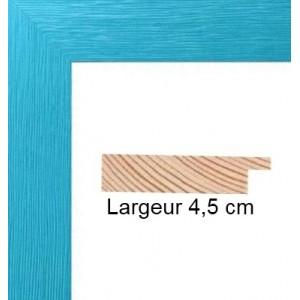 encadrement bois plat stri 233 bleu turquoise avec verre et dos prix discount sur cadre discount