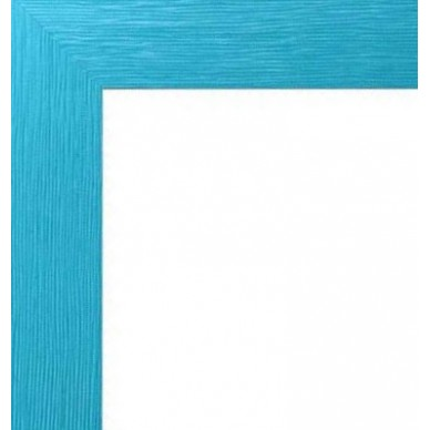 bleu turquoise avec verre et dos