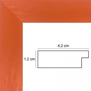 Cadre Plat strié Orange