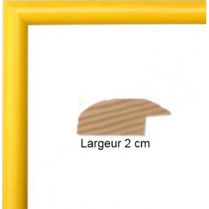 encadrement bois arrondi jaune avec verre et dos prix discount sur cadre. Black Bedroom Furniture Sets. Home Design Ideas