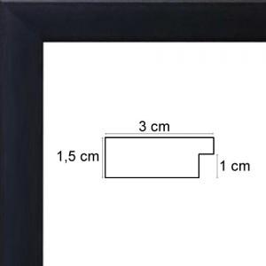Plat Noir Satiné 3 cm