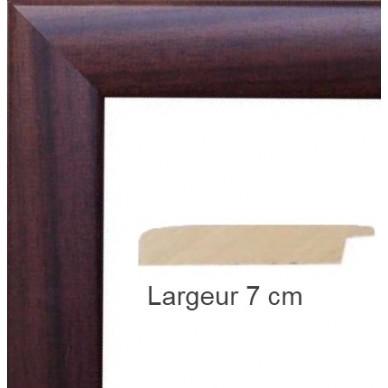 encadrement bois satin noyer avec verre et dos prix. Black Bedroom Furniture Sets. Home Design Ideas