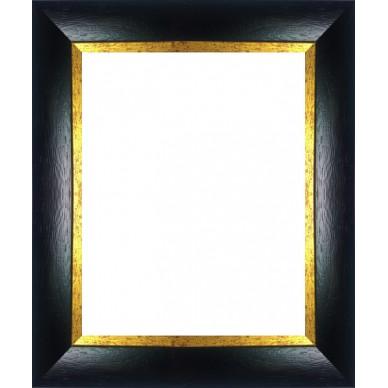 encadrement bois noir mat bord dor avec verre et dos prix discount sur cadre. Black Bedroom Furniture Sets. Home Design Ideas