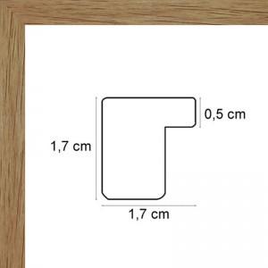 Plat chêne clair 1,7cm