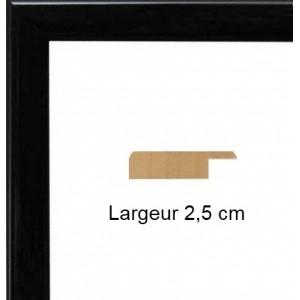 encadrement bois plat laqu noir avec verre et dos prix discount sur cadre. Black Bedroom Furniture Sets. Home Design Ideas