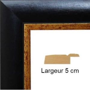 encadrement bois noir mat bord dor avec verre et dos. Black Bedroom Furniture Sets. Home Design Ideas