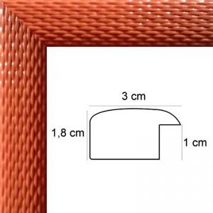 Cadre Tressage Laqué Orange