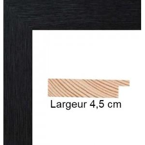 encadrement bois plat stri noir avec verre et dos prix discount sur cadre. Black Bedroom Furniture Sets. Home Design Ideas