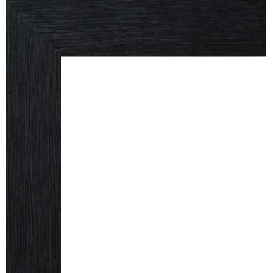 encadrement bois plat stri noir avec verre et dos prix. Black Bedroom Furniture Sets. Home Design Ideas