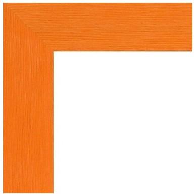 encadrement bois plat stri orange avec verre et dos prix discount sur cadre. Black Bedroom Furniture Sets. Home Design Ideas