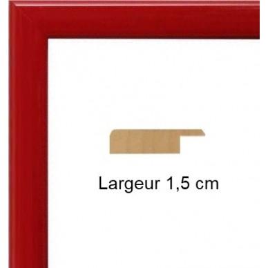 Encadrement bois plat laqu rouge avec verre et dos prix for Prix poisson rouge 20 cm