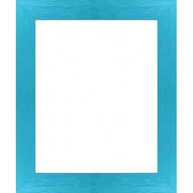 encadrement bois plat stri bleu turquoise avec verre et dos prix discount sur cadre. Black Bedroom Furniture Sets. Home Design Ideas
