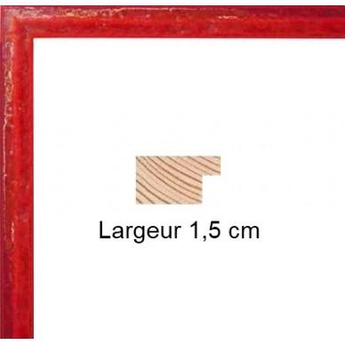 encadrement bois c ramique rouge avec verre et dos prix discount sur cadre. Black Bedroom Furniture Sets. Home Design Ideas