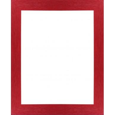 encadrement bois plat stri rouge avec verre et dos prix discount sur cadre. Black Bedroom Furniture Sets. Home Design Ideas