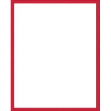 Cadre aluminium rouge avec plexiglas et dos sur cadre - Cadre photo rouge design ...