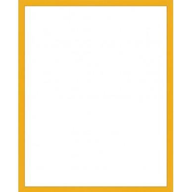 cadre aluminium jaune avec plexiglas et dos sur cadre. Black Bedroom Furniture Sets. Home Design Ideas