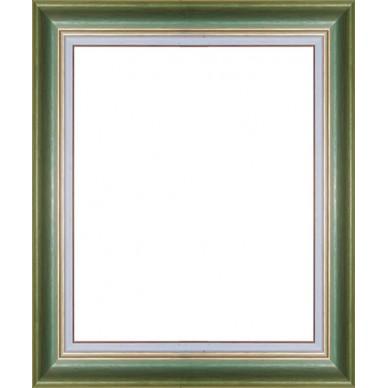 cadre vide vert avec marie louise sur mesure encadrement bois couleur vert avec marie louise. Black Bedroom Furniture Sets. Home Design Ideas