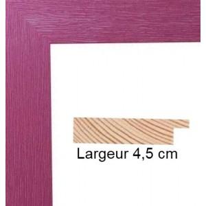 encadrement bois plat stri mauve avec verre et dos prix discount sur cadre. Black Bedroom Furniture Sets. Home Design Ideas