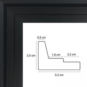 cadre caisse americaine noire prix discount sur cadre. Black Bedroom Furniture Sets. Home Design Ideas