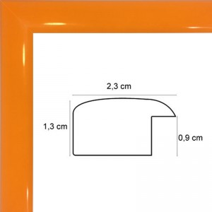 Cadre Laqué Orange