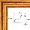 Cadre renaissance or 5 cm