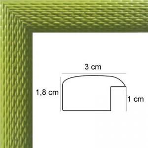 Cadre Tressage Laqué Vert