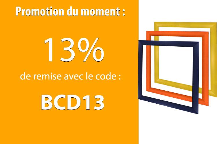13% de remise avec le code BCD13