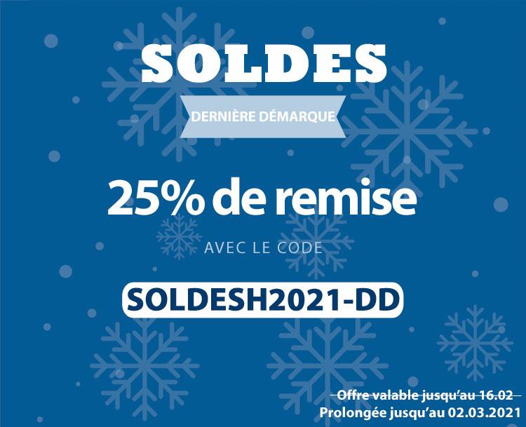 25% de remise avec le code SOLDESH2021-DD